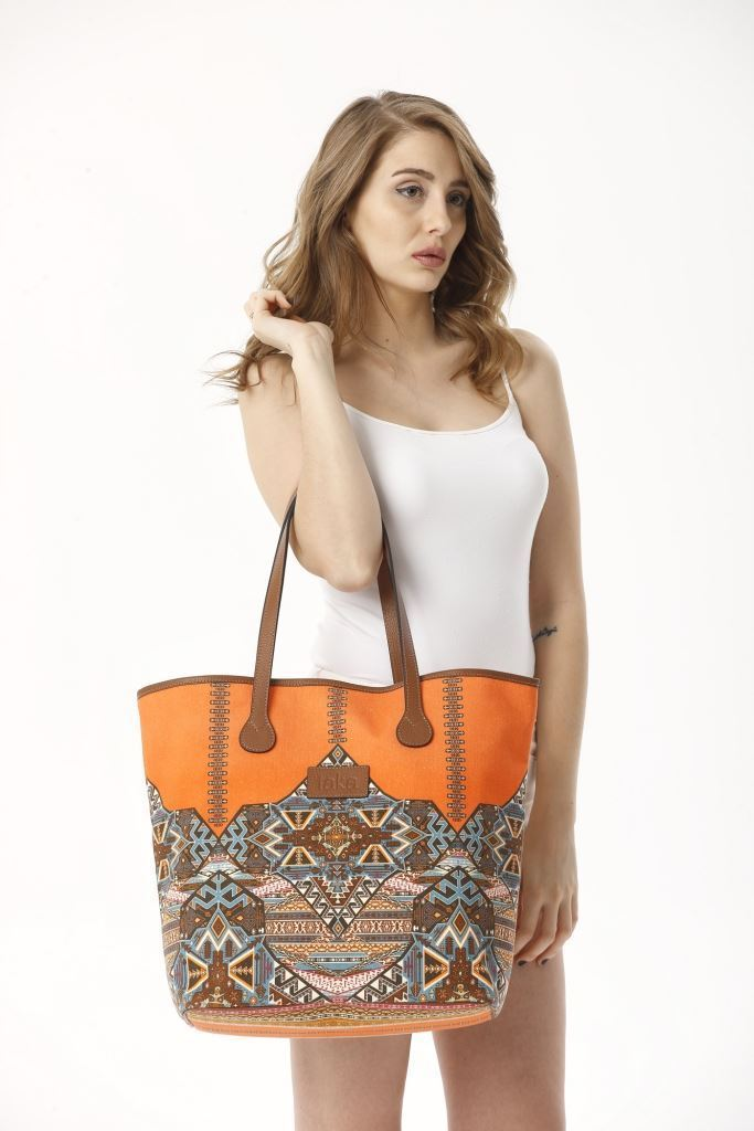 Picture of 17SFCC904  CANVAS & LEATHER BEACH BAG
